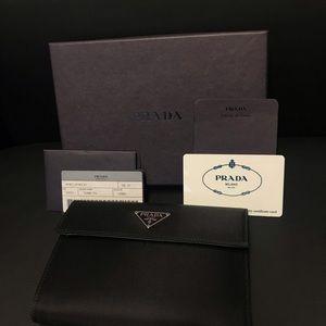 Authentic Prada Nero Black tessuto compact wallet